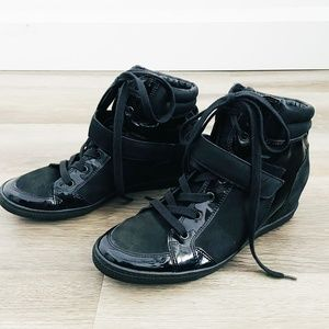 Paul Green Black Wedge Sneakers UK 6.5/US9